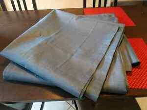 Samara Blue Curtain Panels Kitchener / Waterloo Kitchener Area image 1