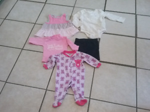 Baby girl clothes 55 items of clothing