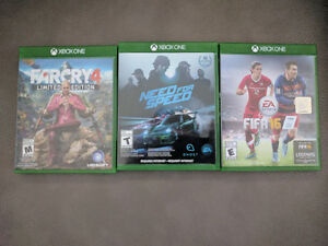Xbox One 500 GB-- Two Controllers -- 4 Games