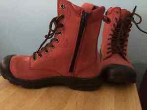 Pink Steeltoe leather working boots West Island Greater Montréal image 4