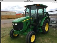 John Deere 5075m two wheel drive cab with less than 10 hours