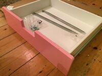 IKEA Pink Stuva Grundlig Drawers X 3 - Fits Stuva IKEA desk