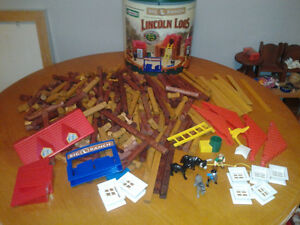 Wood building toy  over 300 pieces