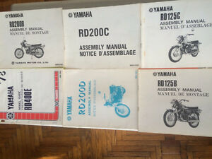 1970s OEM Yamaha TX XS RD Model Guides and Assembly Manuals