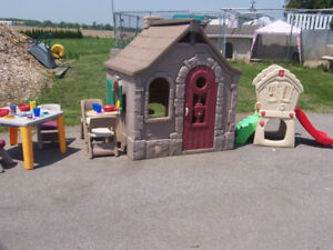Extra Large storybook Cottage Playhouse and much more (HOLD)
