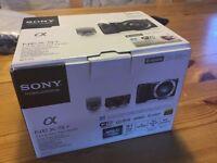 Sony NEX5T full camera kit, brand new in box. Includes 16-50mm Power zoom lens.