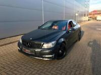 2011 61 reg Mercedes-Benz C250 CDI AMG Sport Coupe BLACK + RED LEATHER