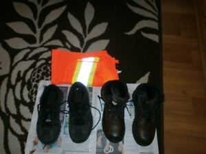 Safety shoes, boots and vest