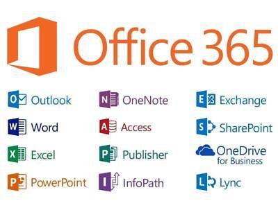 Microsoft Office 365 Pro Subscription 5 Users Windows Mac Mobile Key 2016