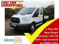 2015 65 FORD TRANSIT TIPPER DOUBLE CAB 350 L3 RWD 1 STOP 2.2 DIESEL
