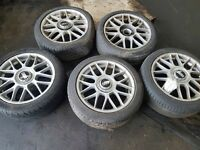 Old original bbs Audi alloy wheels.