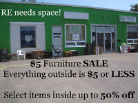 Outdoor Sale this week at RE! $5 or LESS