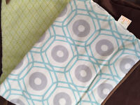 Gender Neutral Crib Pads and Skirt
