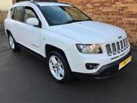 2014 Jeep Compass 2.4 VVT Limited P-Tech 4x4 5dr Petrol white Automatic
