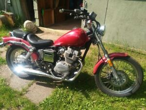 a 1985 Honda Rebel 250cc Motorcycle, Completely rebuilt from the