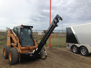 New hydraulic telescoping skid steer lift boom
