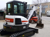 3.5 Ton Bobcat Compact Excavator For Hire or Rent!