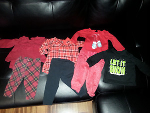 0-3 Month Girl Christmas/Winter Clothes