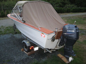16 ft Double Eagle Boat with 60 hp Yamaha OB