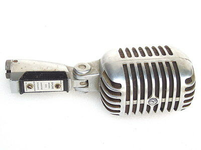 VINTAGE SHURE MODEL 55S UNIDYNE DYNAMIC MICROPHONE MADE IN USA RETRO ELVIS MIC