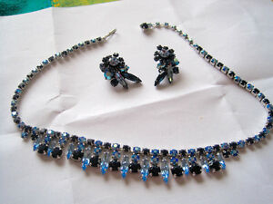"""REDUCED"" VINTAGE SHERMAN NECKCLACE & EARRINGS"