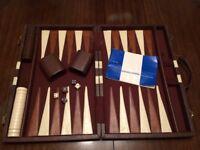 Vintage Backgammon game in briefcase