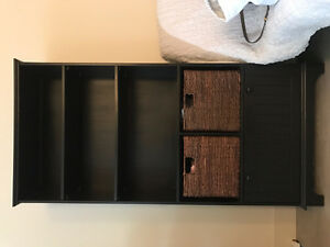 black wood book shelf like new condition
