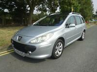 Peugeot 307 SW 1.6HDi ( 110bhp ) 2006/55 SE diesel estate service history