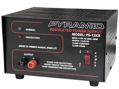 New Pyramid Ps12kx Ps-12kx 10 Amp 13.8v Constant Regulated Acdc Power Supply