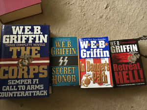 W.E.B. GRIFFIN CORPS SERIES - HARD COVER &  PAPERBACK BOOKS