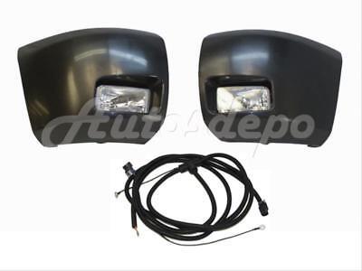 Front Bumper Raw Black End Cap Fog Light Harness For Silverado 1500 2007-2013