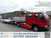 2005 54 NISSAN CABSTAR DOUBLE CAB 5TH WHEEL WITH 31FT TRAILER RECOVERY RARE