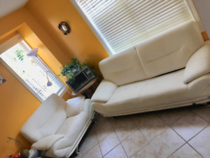 QUICK SALE: Galaxy Pure White Sofa Set in Excellent Condition