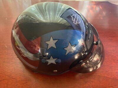 Harley-Davidson American Flag Star Motorcycle DOT Half Helmet Visor XL Men's