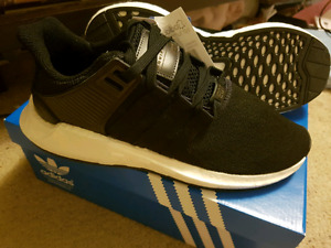 DS ADIDAS EQT SUPPORT 93/17 CORE BLACK SIZE 9