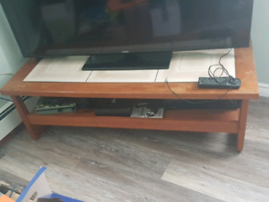 TV STAND AND MATCHING END TABLE!