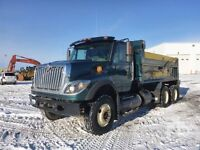 Best price for hiring a tandem dump truck for snow removing