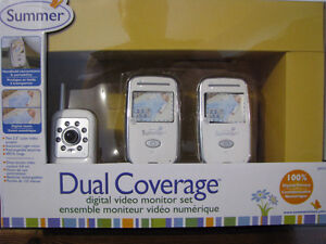summer Infant Dual Coverage Digital Video Baby Monitor / new /re