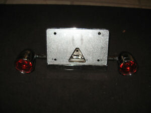 CUSTOM CHROME LIC PLATE AND BULLET STYLE SIGNALS