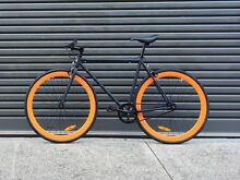 New | 54cm Matte Black/Orange Fixed Gear Bike | Free Delivery Adelaide CBD Adelaide City Preview