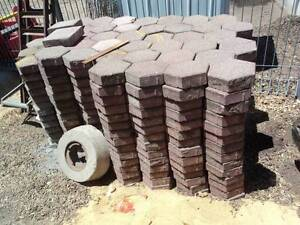 Recycled pavers ...hexagonal, red....ON PALLETS...$10 per squ. m North Plympton West Torrens Area Preview