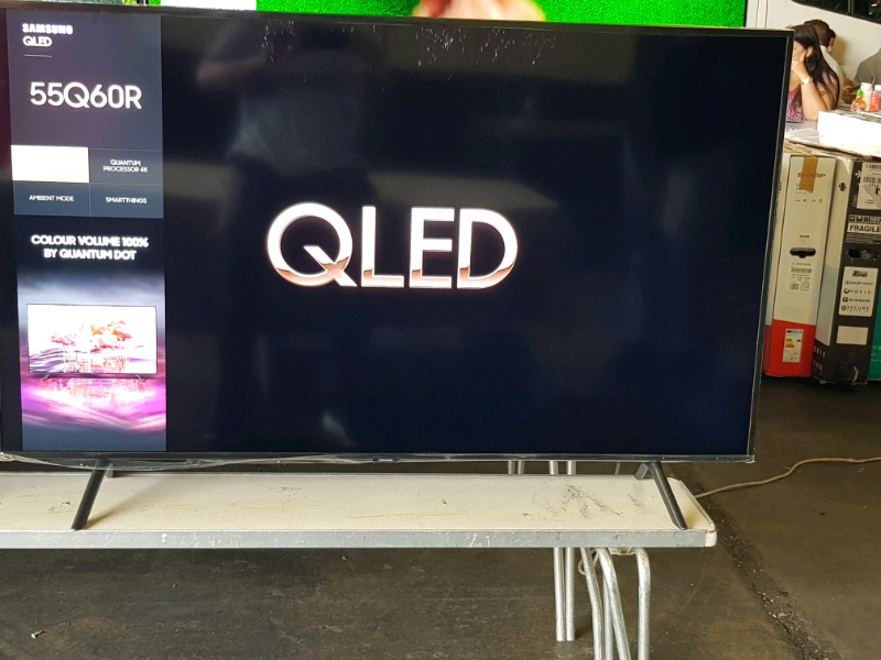 Samsung 55 Inch Q60R 4K UHD QLED Smart-TV QE55Q60RAT With Bixby and Apple  TV Apps (2019) Model | in Slough, Berkshire | Gumtree