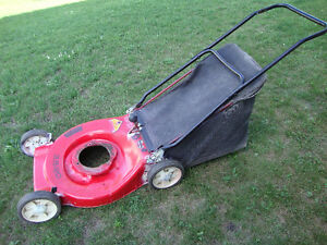 "Deck for 20"" bag lawnmower"