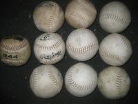 Balle de softball modele 244 usagées a vendre