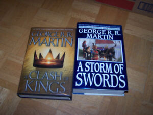 George RR Martin - 2 hardcover books SONG ICE & FIRE series