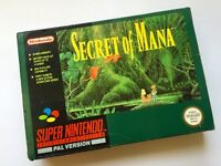 Snes Secret Of Mana Super Nintendo Boxed & Manual