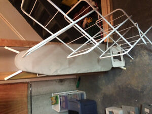 Ironing board and cloths dryer