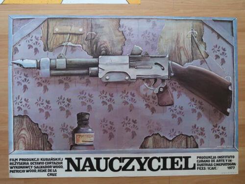 Original+Vintage+1977+Poster+of+Cuban+Movie+-+POLISH+SCHOOL+OF+POSTERS