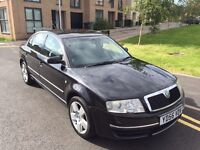 2006/56 SKODA SUPERB ELEGANCE 2.5 TDI V6 AUTO, ONLY 99000 MILEAGE, FSH WITH CAMBELT CHANGE, LONG MOT