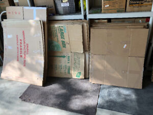 Large number of free moving boxes